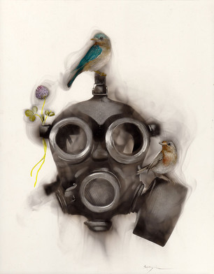 Gas Mask with Clover