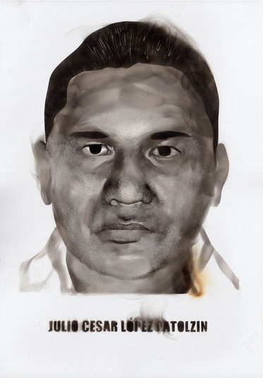 1 of the 43 portraits of the disappeared students of Ayotzinapa (Iguala, Mexico) in 2014