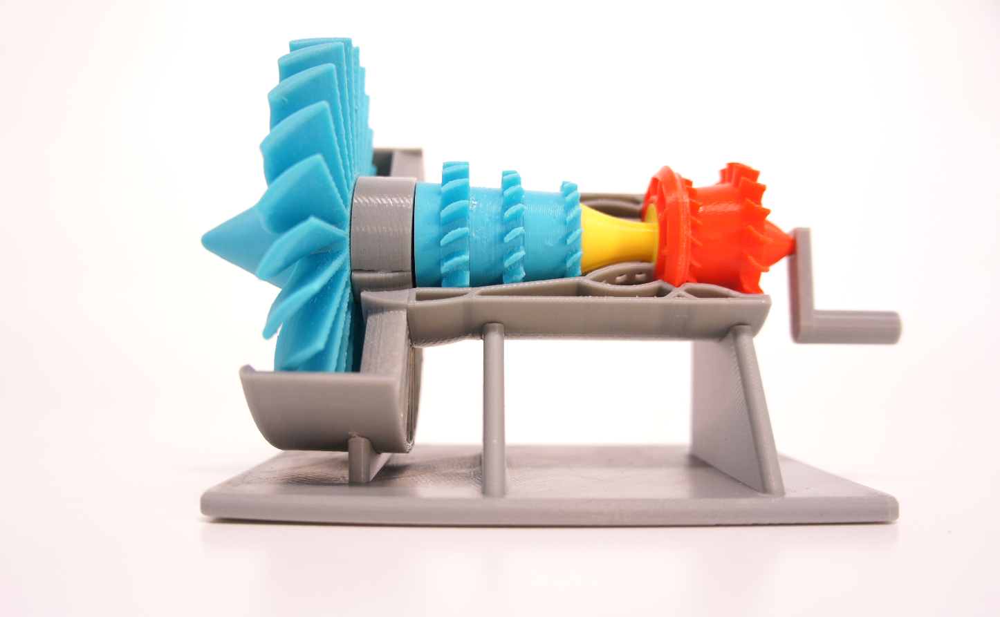 3d printed turbine engine model