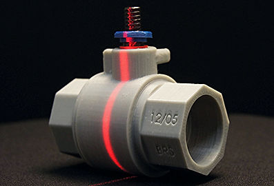 3D scan of a 3D print of a threaded pipe valve fitting