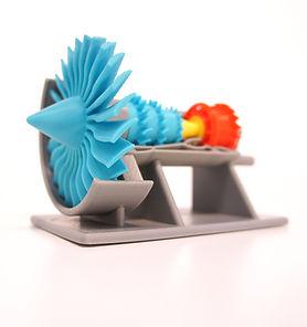 3d printed jet turbine model