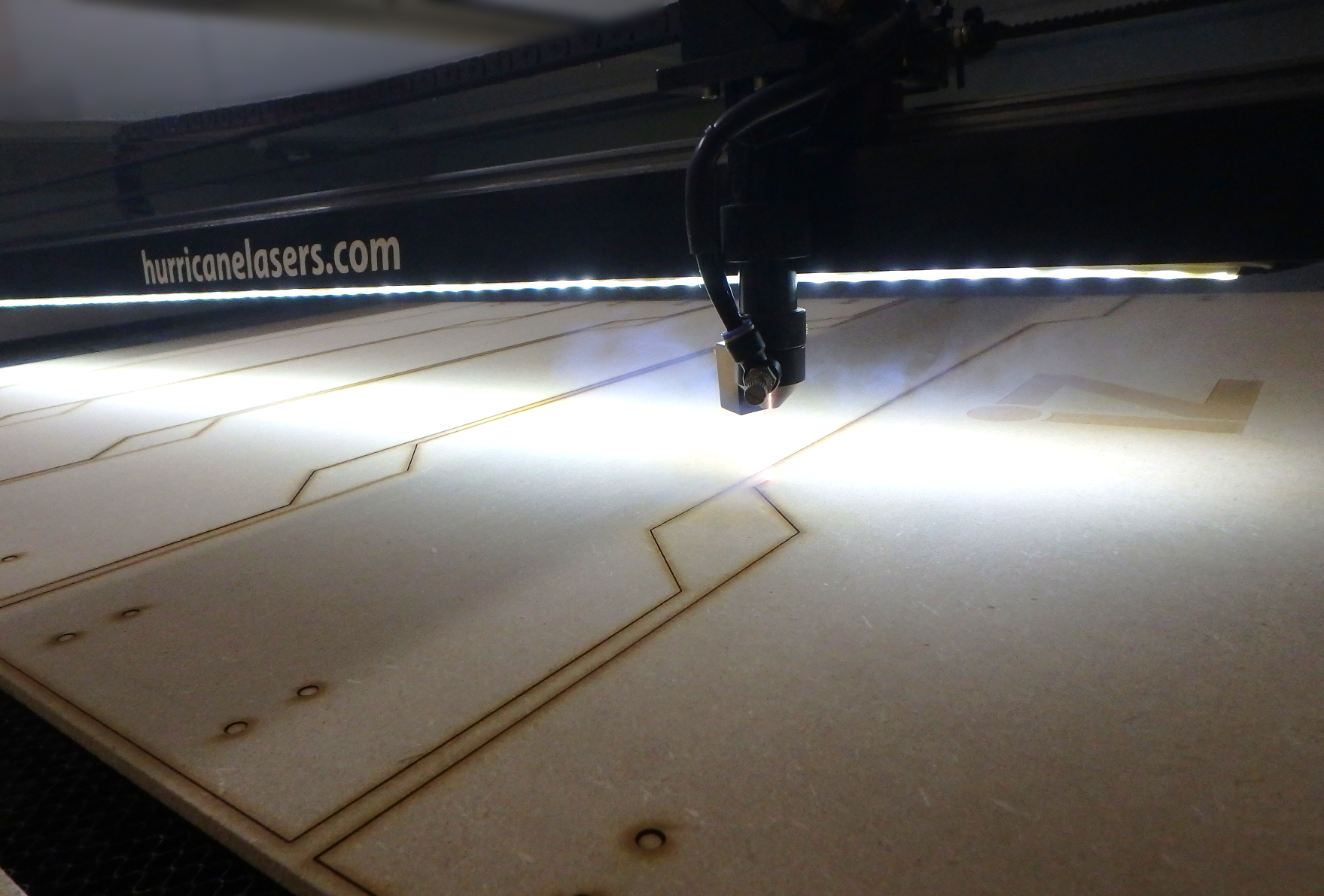 laser cutting wood parts
