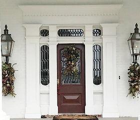 Custom Front Door built by The Artisan Workshop