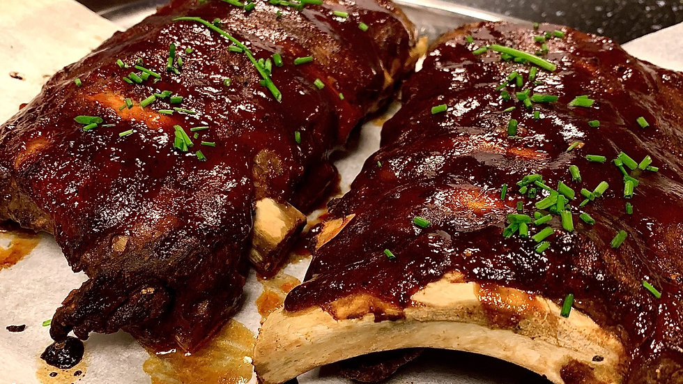 Spare ribs menu
