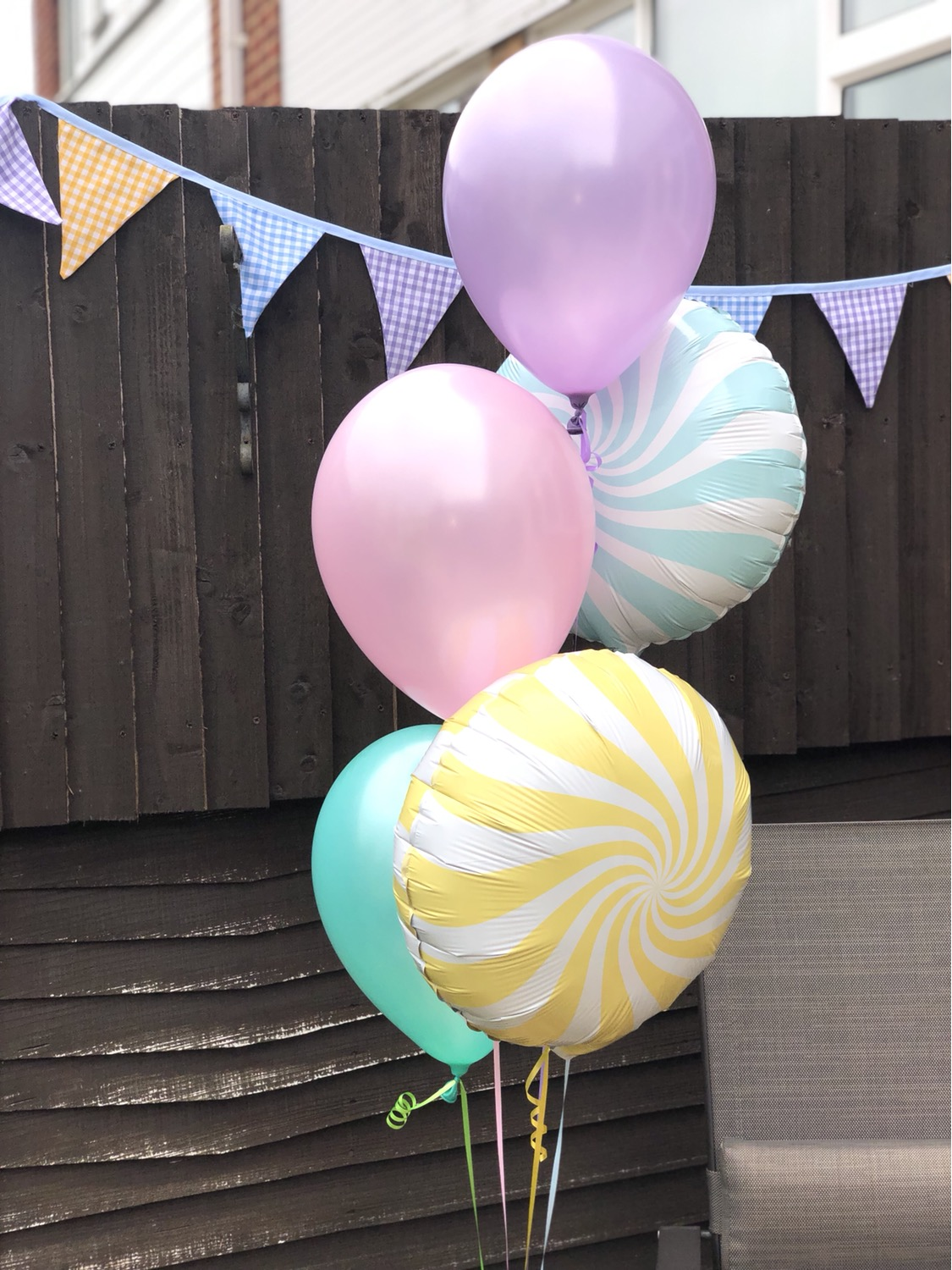 Pastel Balloon Bunch