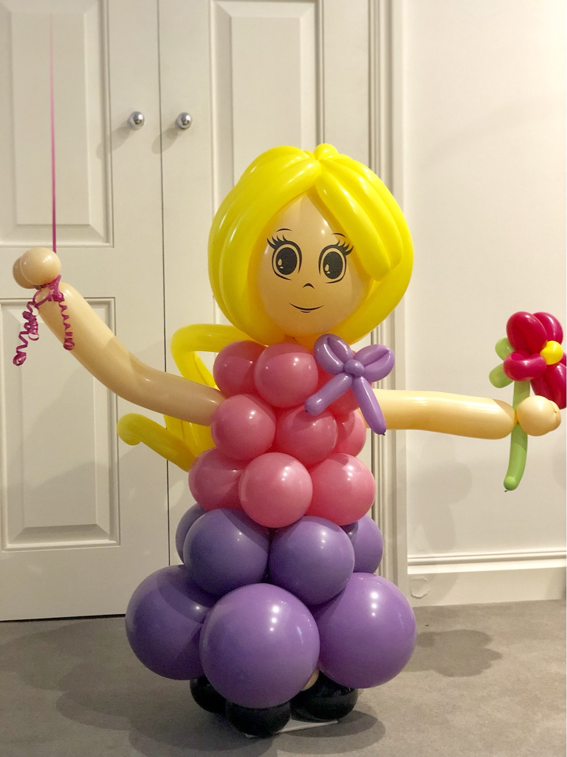 Custom Made Balloon Lady