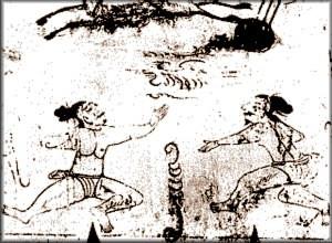 Ancient Korean Cave Painting Depicting Martial Arts