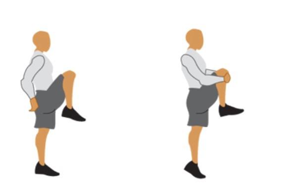 Knee hug stretch