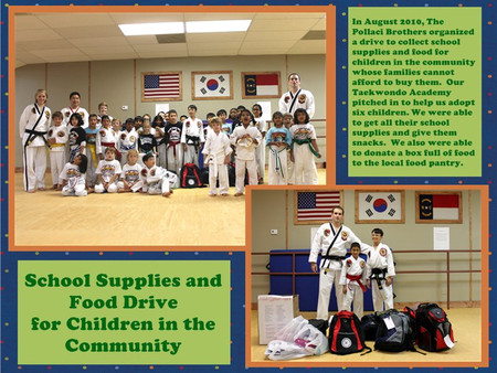 TaeKwonDo Brothers Collect School Supplies as Leadership Project