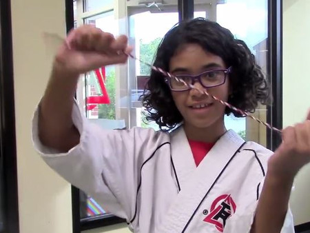 Karate Girl Handmakes Bracelets for Charity