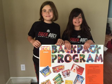 Donate to the Backpack Program at Johnson's Tiger-Rock Martial Arts in Cary