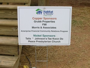 Habitat For Humanity Dedication September 19th, 2009