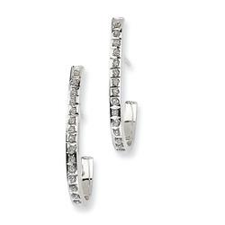 J Hoop Diamond Earrings