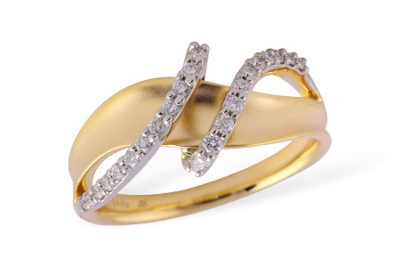 Freeform Diamond Ring