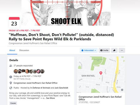 Huffman, Don't Shoot! Don't Pollute!
