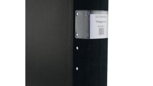 Pärm A4 svart 80mm trärygg