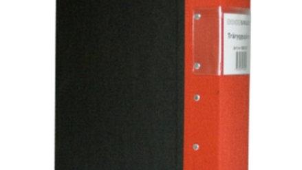Pärm A4 röd 60mm trärygg