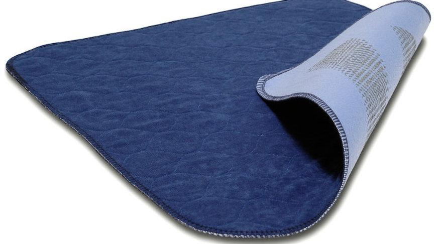 Sittunderlägg 45x45cm blå velour antihalk