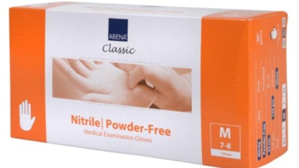 Handskar Abena nitril pf textured vit M 150st/fp