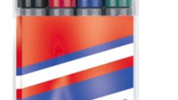 Whiteboardpenna 1,5-3mm konformad set om 4st i olika färger