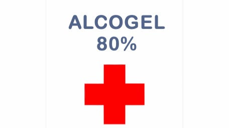 Handdesinfektion Alcogel 80% 10-pack x 100ml