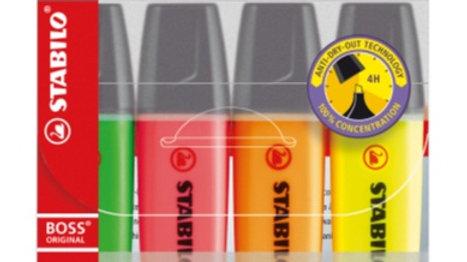 Överstrykningspenna set om 4st i olika färger