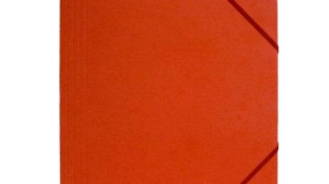 Gummisnoddmapp A4 röd i papp 3-klaffar Docusmart