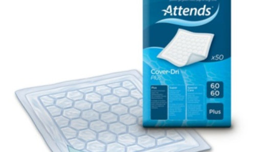 Inkontinensskydd Attends Cover-Dri Plus 60x60cm 50st/fp