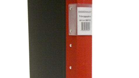 Pärm A4 röd 40mm trärygg