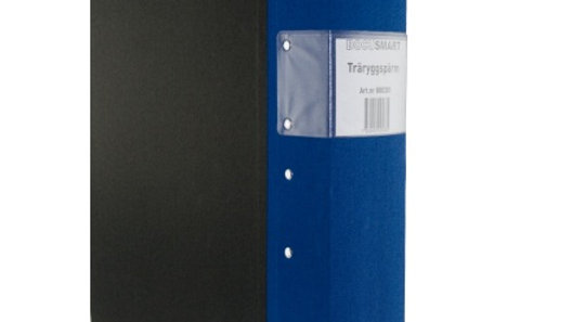 Pärm A4 blå 80mm trärygg