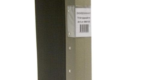 Pärm A4 grå 40mm trärygg