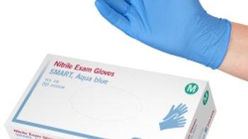 Handskar L nitril puderfria Selefa Smart Aqua Blue 150st/fp