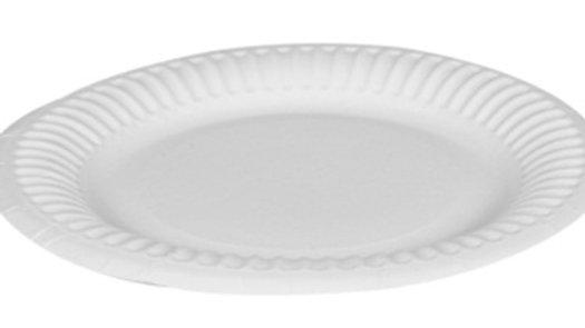 Assiett papper 15 cm vit flat 100st/fp