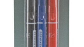 Märkpennor 2-3mm kon spets 3-pack svart, blå, röd