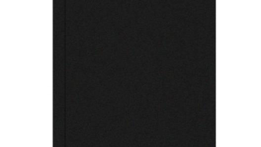 Anteckningsbok A5 linjerad svart vaxduk 72 blad