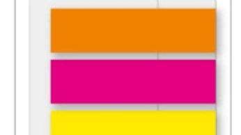 Indexflikar PP 45x12, 5xNeon