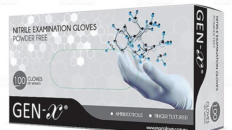 Handskar S nitril, Gen-X puderfria blå 100st/fp