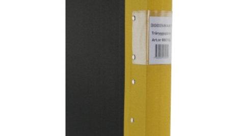 Pärm A4 gul 40mm trärygg