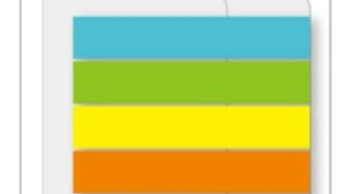 Indexflikar PP 45x8, 8xNeon
