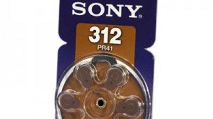 Batteri till hörapparat DA312 6 st/fp NR312