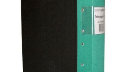 Pärm A4 grön 60mm trärygg