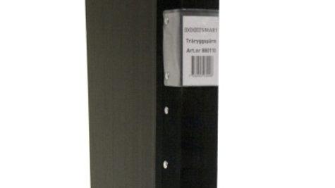 Pärm A4 svart 40mm trärygg