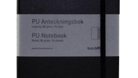 Anteckningsbok A5 linjerad svart 96 blad
