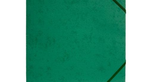 Gummisnoddmapp A4 grön i papp 3-klaffar Docusmart