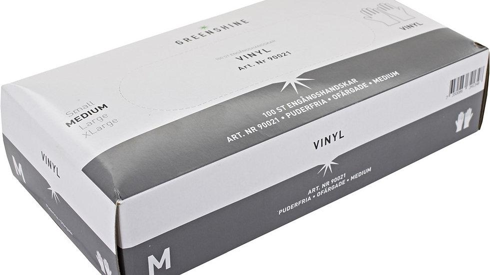 Handskar vinyl Greenshine puderfri M 100st/fp