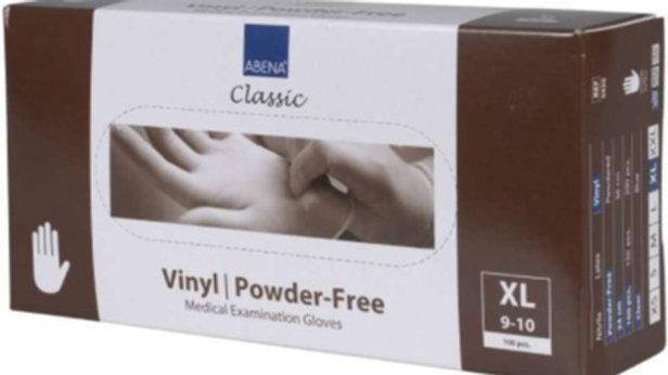 Handskar vinyl puderfria XL transp 100st/fp