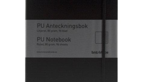 Anteckningsbok A4 linjerad svart 96 blad