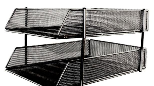 Brevkorg stapelbar 180 x 250 x 340 mm svart