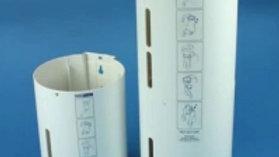 Dispenser (stor) för kräkpåse. Rymmer 50 st påsar, art. nr. 101254