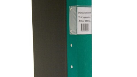 Pärm A4 grön 40mm trärygg